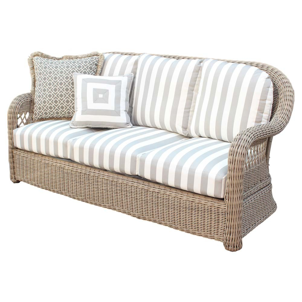 Sofa Rattan Get A Wicker Sofa For The Patio Decorifusta