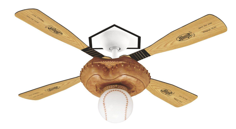 Baseball Ceiling Fan for More Appealing Room