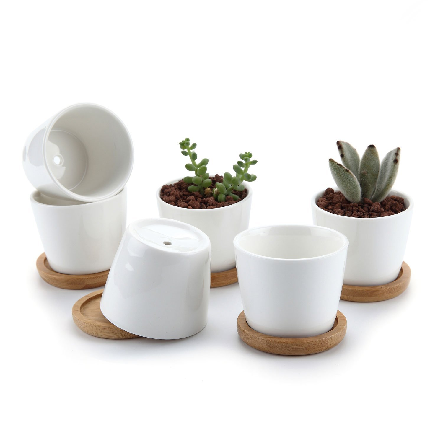 Ceramic Flower Planters White Flower Pots As Nice Indoor Outdoor Planter Decor