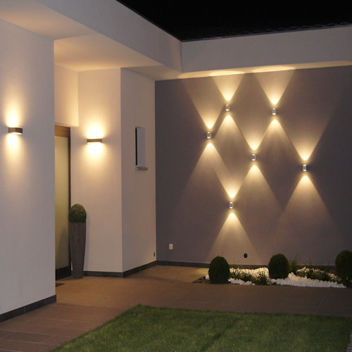 Iluminacion Exterior Para Jardin Y Fachadas Contemporary Backyard Lighting Ideas - Decor Inspirator
