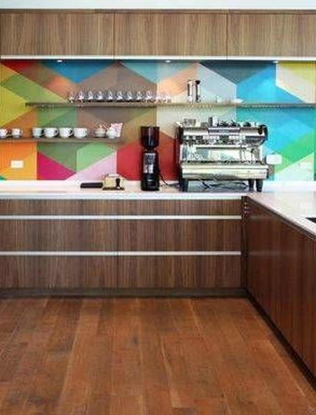 42 Adorable Rainbow Colorful Kitchens Design Ideas To Looks More Awesome Decorkeun
