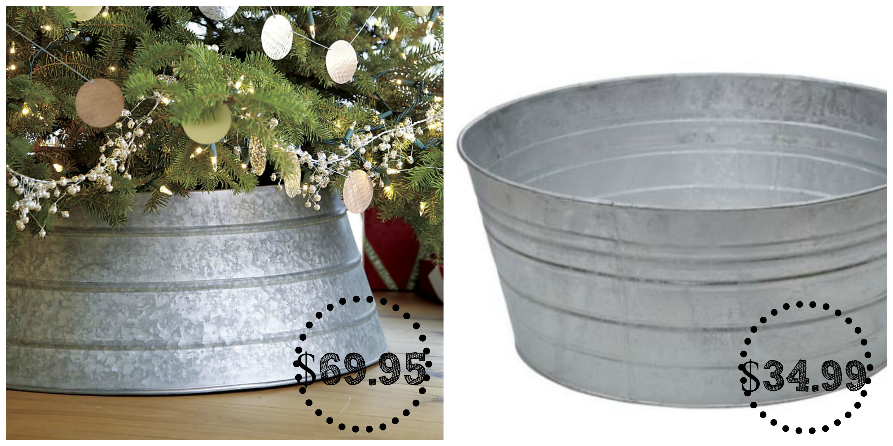 Christmas Tree Collar Crate And Barrel Galvanized Tree Collar Decor Look Alikes