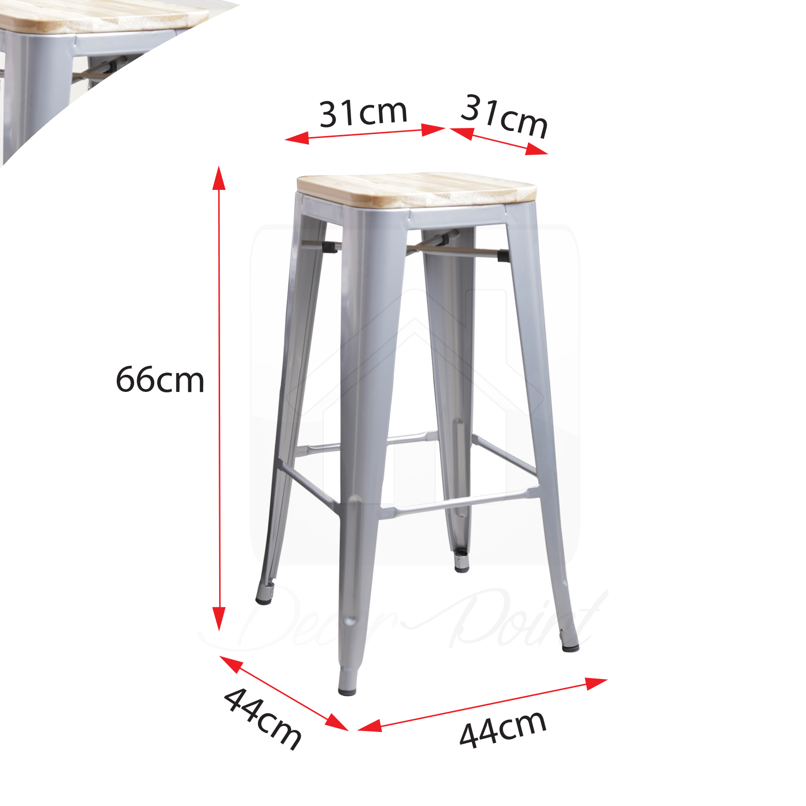 Bar Stools Hobart 4 X Replica New Tolix Bar Stool Xavier Metal Steel W
