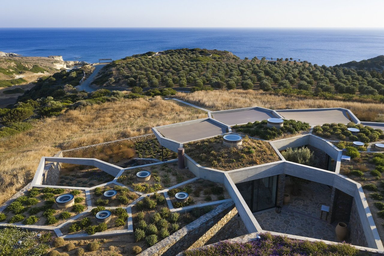 An Astounding Tessellated Home In Greece Burrows Into The Earth Decor Report