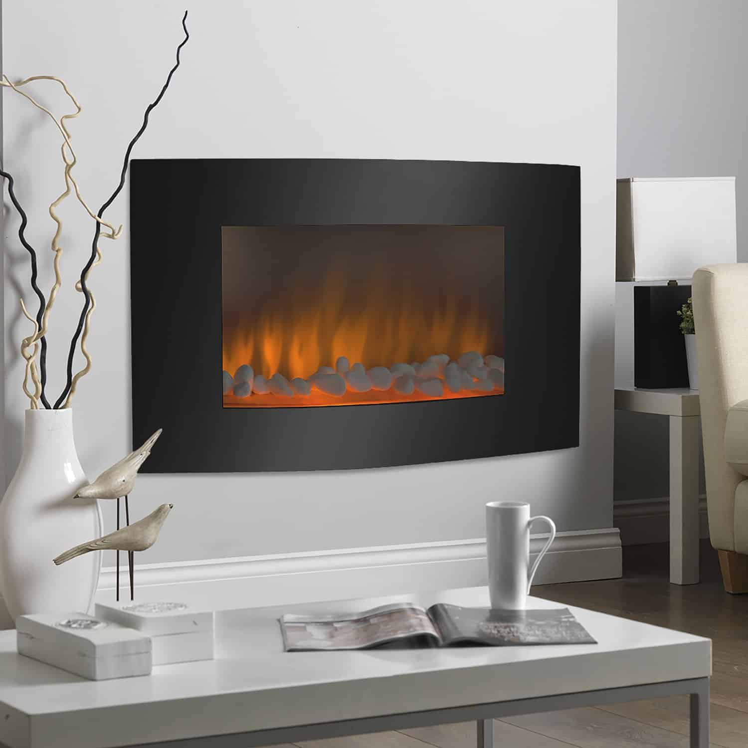 Wall Mount Fireplaces Pros Cons Modern Electric Fireplaces Vs Ethanol Fireplace