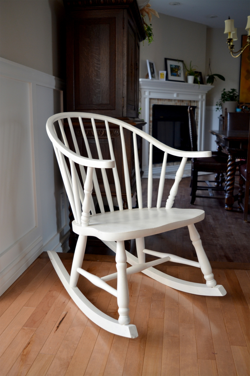 Chaise Rocking Chair Windsor Rocking Chair White