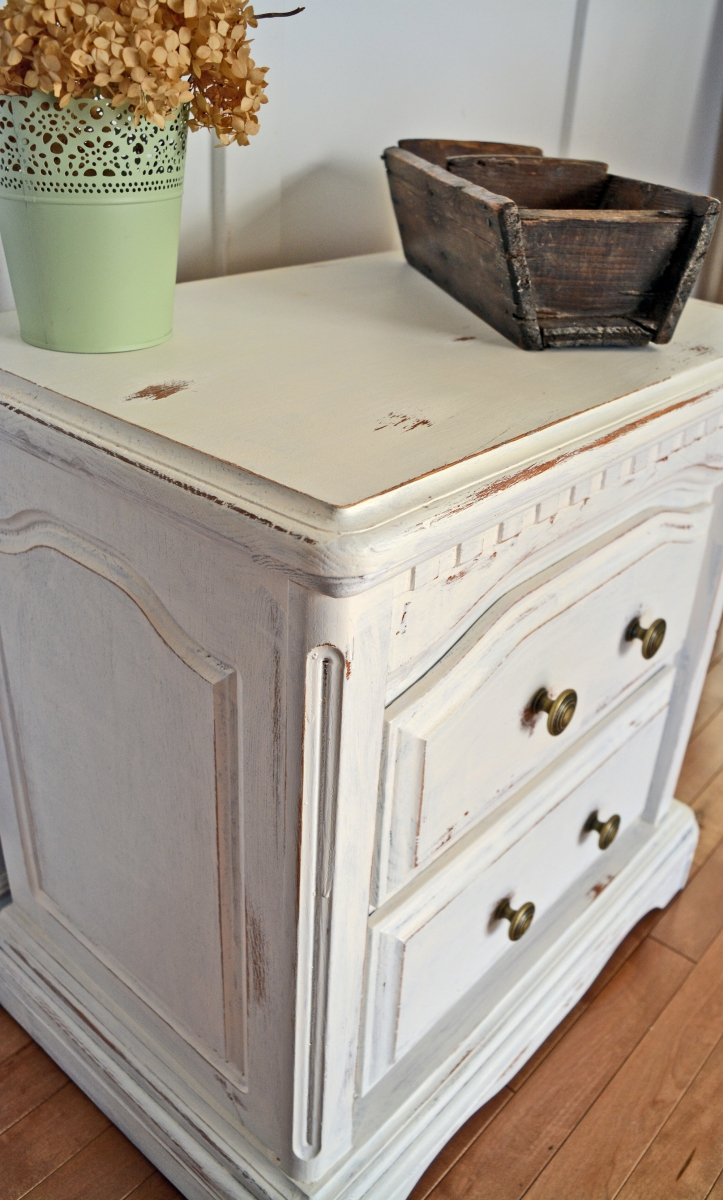 Tables De Chevet Blanches Bedside Night Tables White Shabby Chic Cream Off White