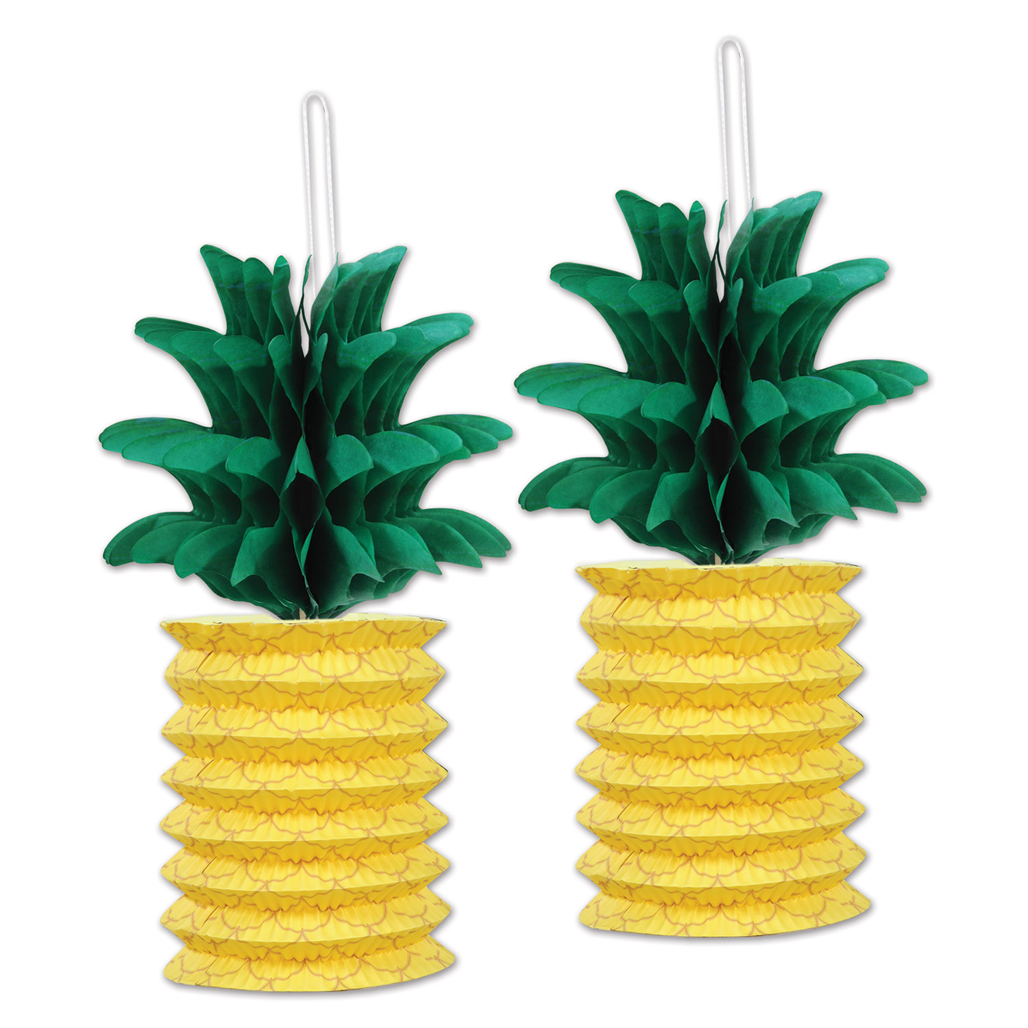 Decoration Hawaienne Pour Fete 2 Suspensions Ananas