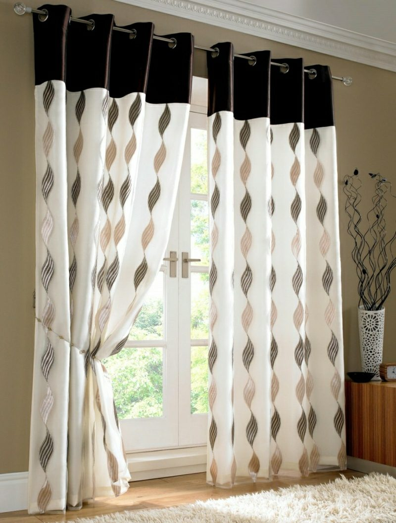 Gardinen Modern Design Curtains In The Living Room: Great Ideas For Different Interior Styles