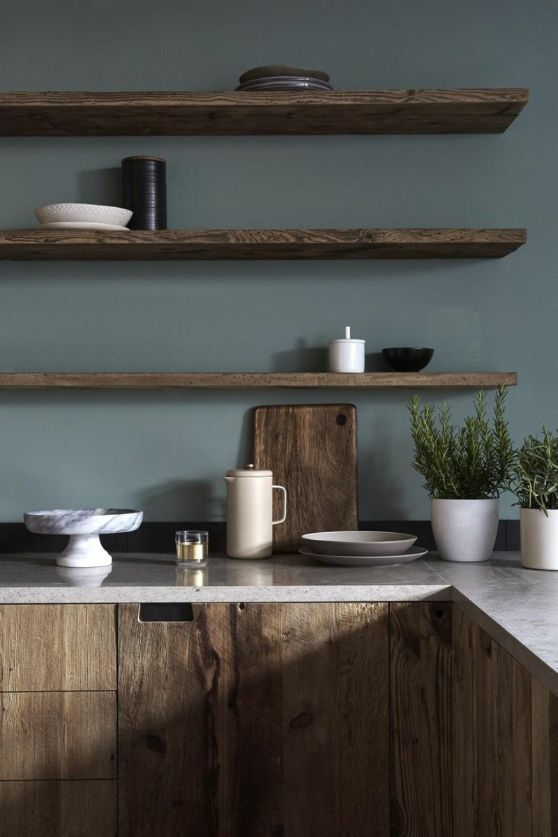 Stylish Kitchen Shelves For A Minimalist Interior Decoration Solutions