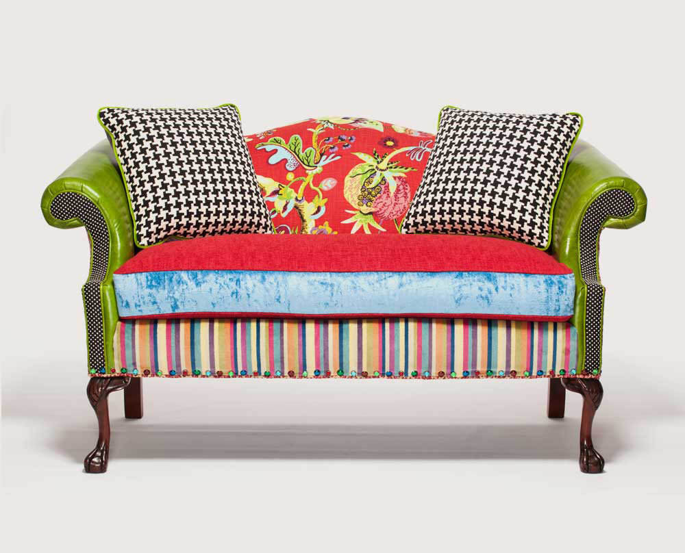 Sofa Quilting Fabric Patchwork Furniture Upholstery Fabrics