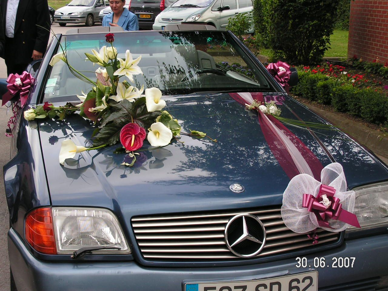 Decoration Mariage Voiture Tulle Decoration Mariage Voiture Bb D Coration Des Voitures De