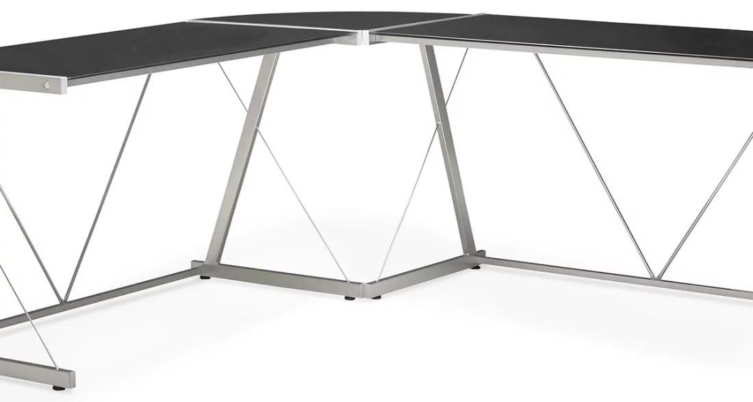 Bureau verre angle plateau de bureau d angle avec ikea bureau d