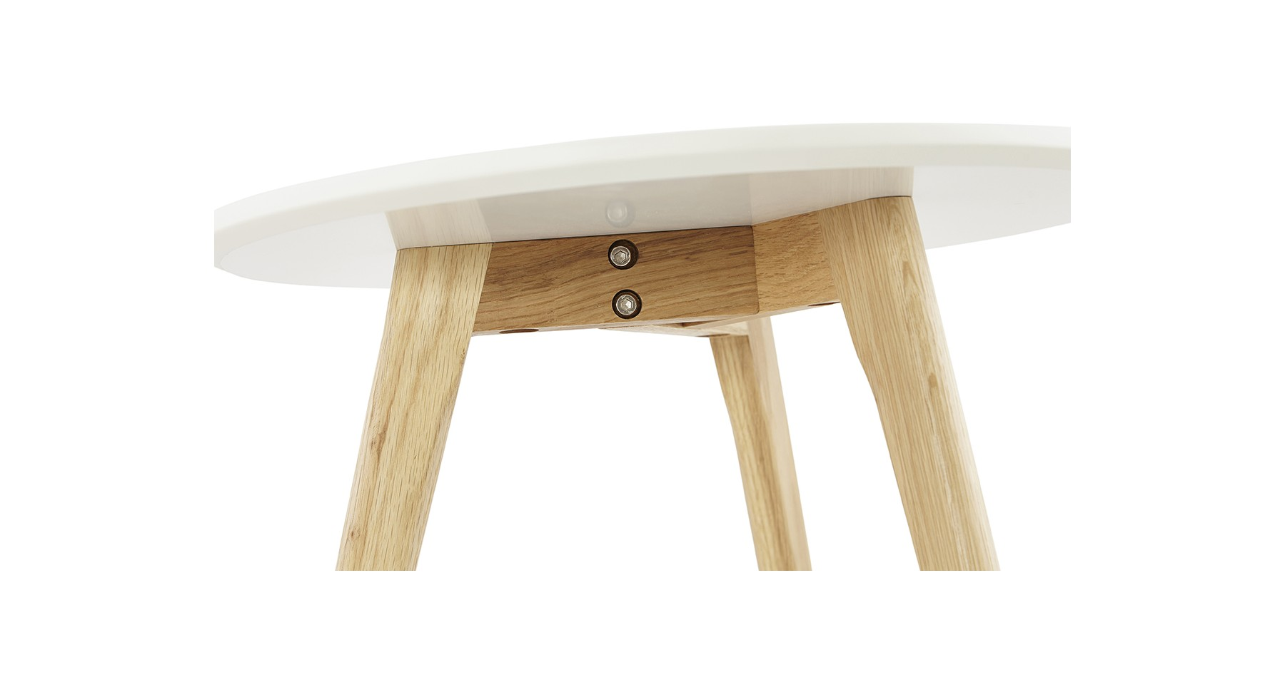 Destockage Canapé Angle Convertible Tables Basses Gigognes Scandinaves Blanches Et Pieds Bois Glodia