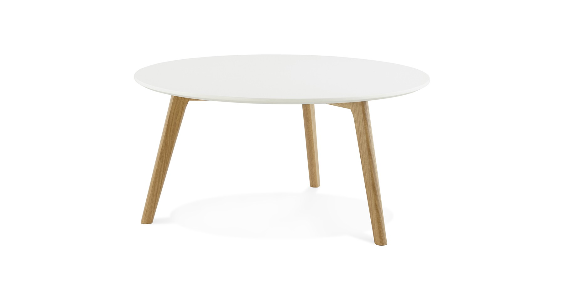 Table Ronde 90 Cm Table Basse Ronde Diamètre 90 Cm Blanche Design Scandinave