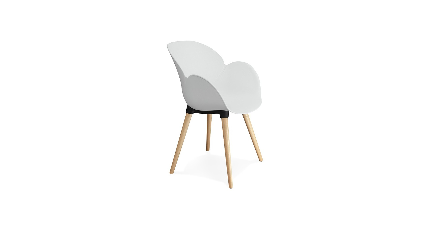 Chaise Blanche Pied Bois Chaise Scandinave Blanche Bois