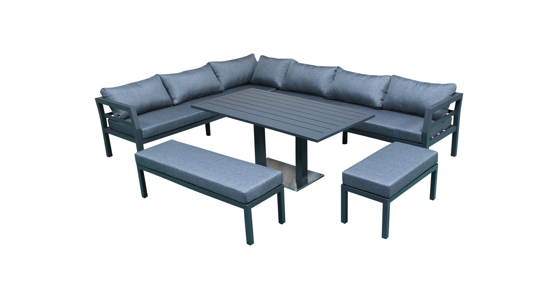 Salon Jardin 12 Personnes Salon De Jardin D 39angle Contemporain 12 Places En