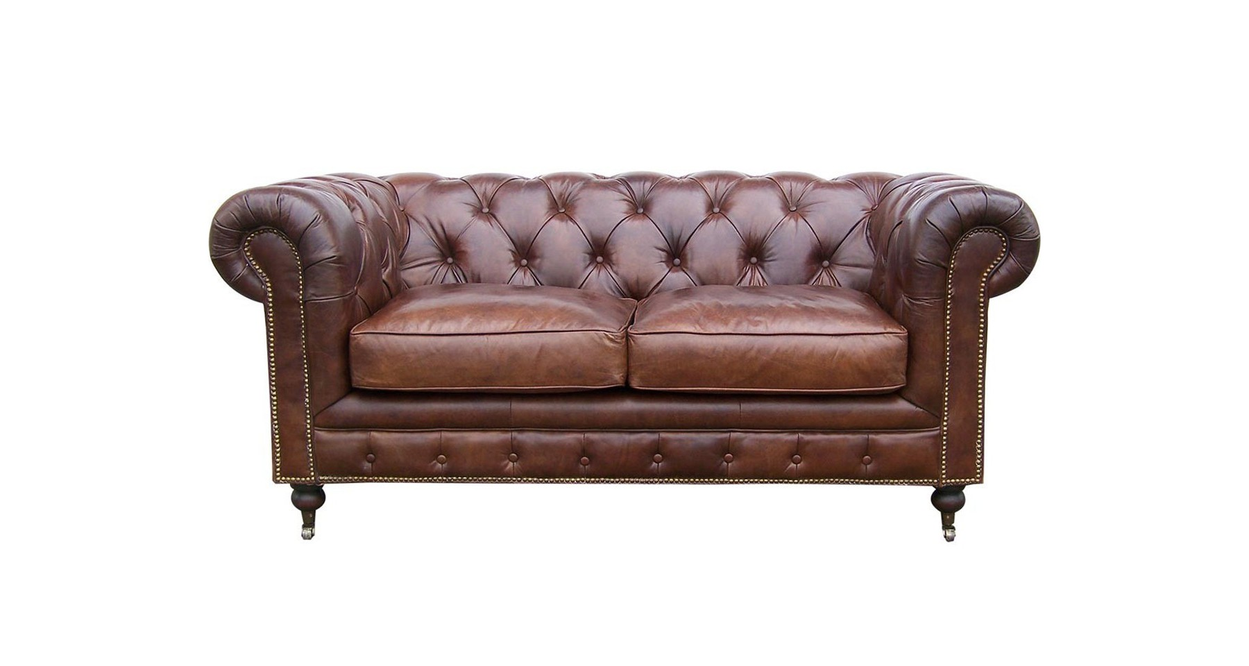 Canape Cuir Marron 2 Places Canapé Chesterfield 2 Places En Cuir Pleine Fleur Marron