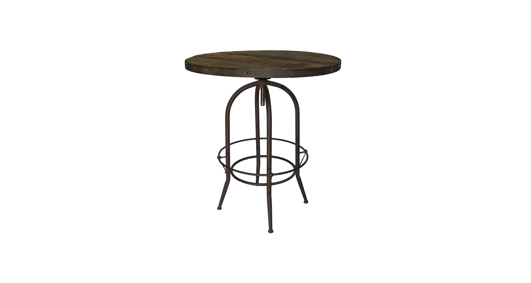 Table Bar Industriel Table Haute Ronde Design Industriel En Bois Et Métal Linton