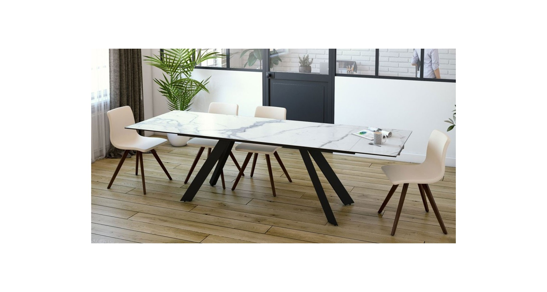 Table Repas Extensible Table De Repas Extensible Au Design Contemporain Cinabre 3 Coloris
