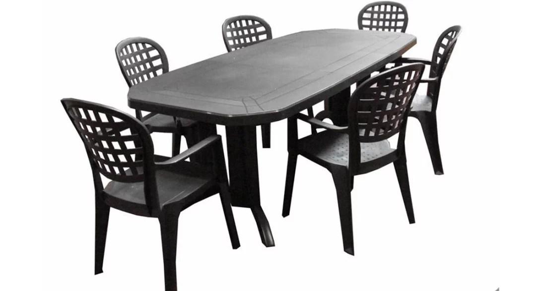 Futura Ensemble Table De Jardin 165 Cm 4 Fauteuils