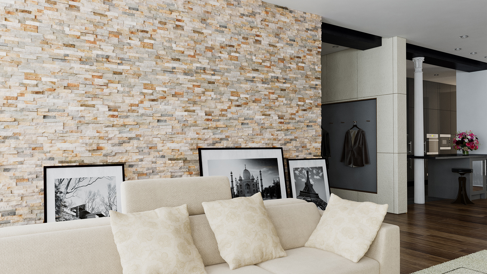 Revetement Mural Exterieur Pas Cher Natural Stone -ivory Colour Stone Cladding For Interior
