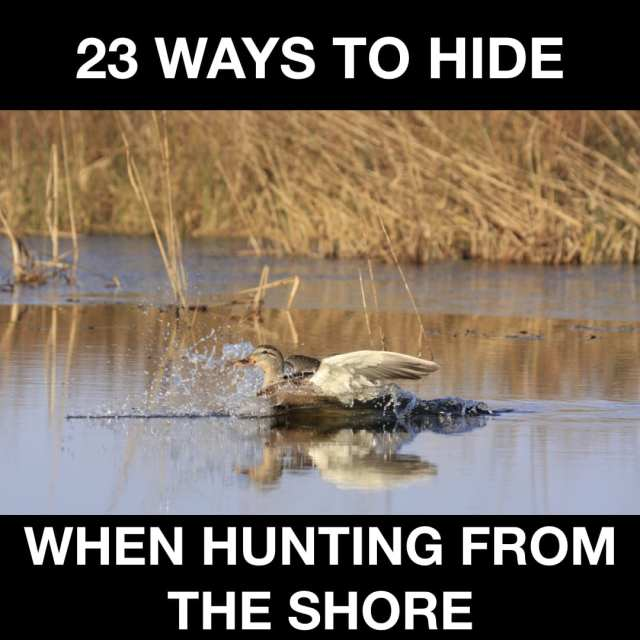 23 WAYS TO HIDE WHEN HUNTING FROM THE SHORE