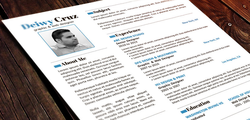 download free modern resume template - free resume layouts