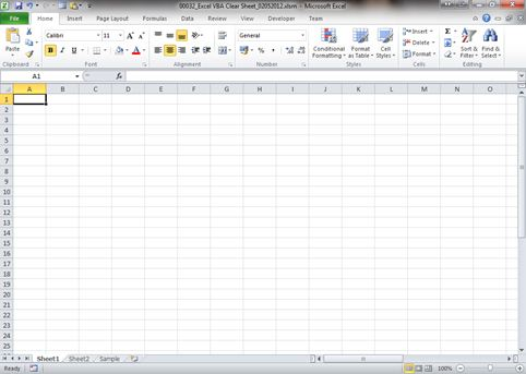 VBA Clear Entire sheet in Excel Dedicated Excel