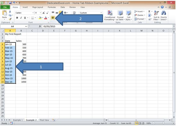 Guide to the Excel Ribbon \u2013 Home Tab Dedicated Excel