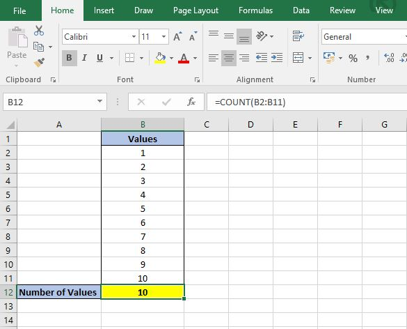 How to Count in Excel - Values, Text and Blanks Dedicated Excel