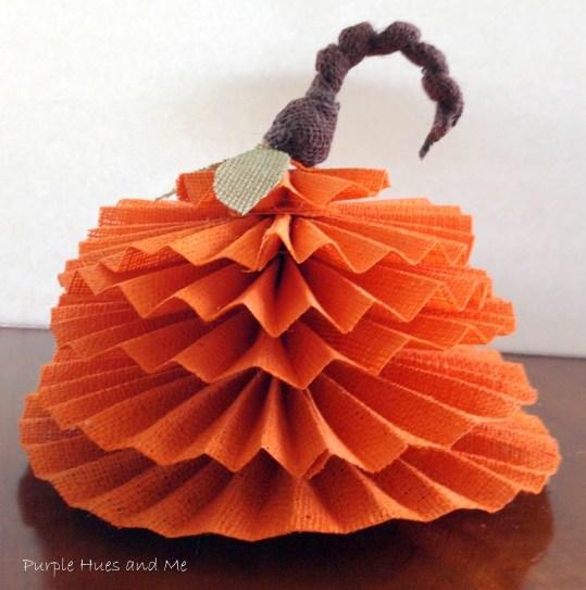 Burlap Accordian Pumpkin