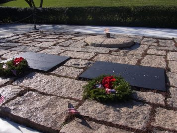 John F Kennedy and Jacqueline Kennedy Onassis' Graves
