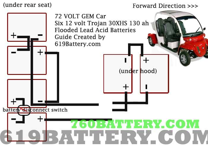 e2 gem car battery wiring diagram