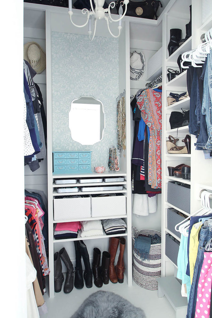 Youtube Meuble Chaussure Small Closet Transforms Into Mini Dressing Room Makeover