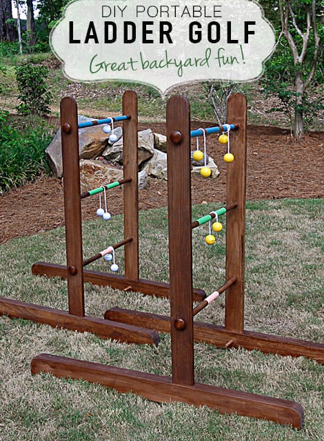 Portable Diy Wooden Ladder Golf Deeplysouthernhome