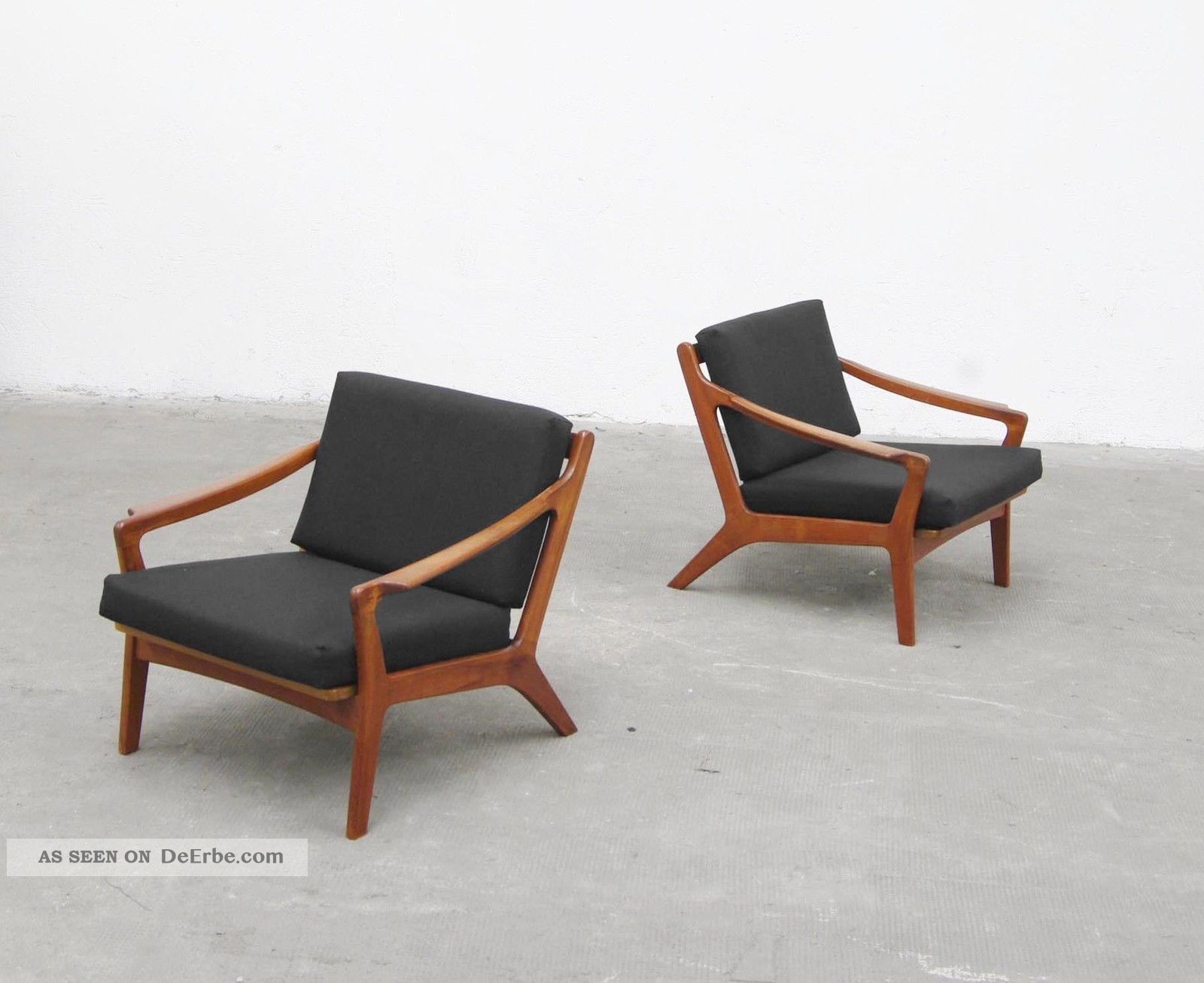 Denmark Sessel 2x Sessel Easy Chair 50er Teak 60er Danish Modern 50s