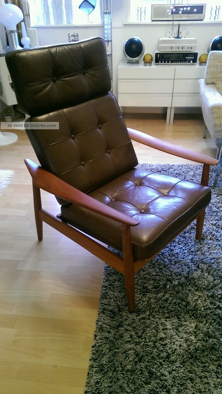 Arne Vodder Sessel Arne Vodder Fd 164 60s 60er Jahre Teak Easy Arm Chair Sessel
