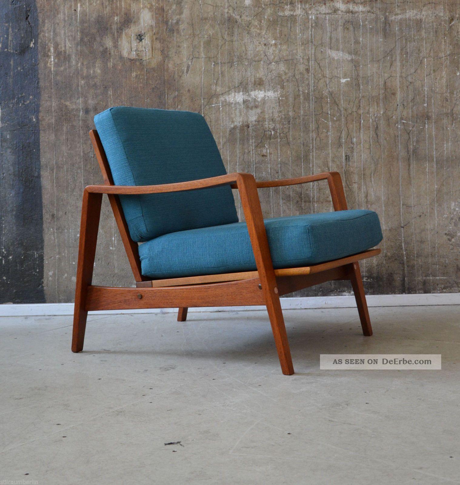 Sessel Danish Design Teak Sessel Illum Wikkelso 60er 70er Glostrup