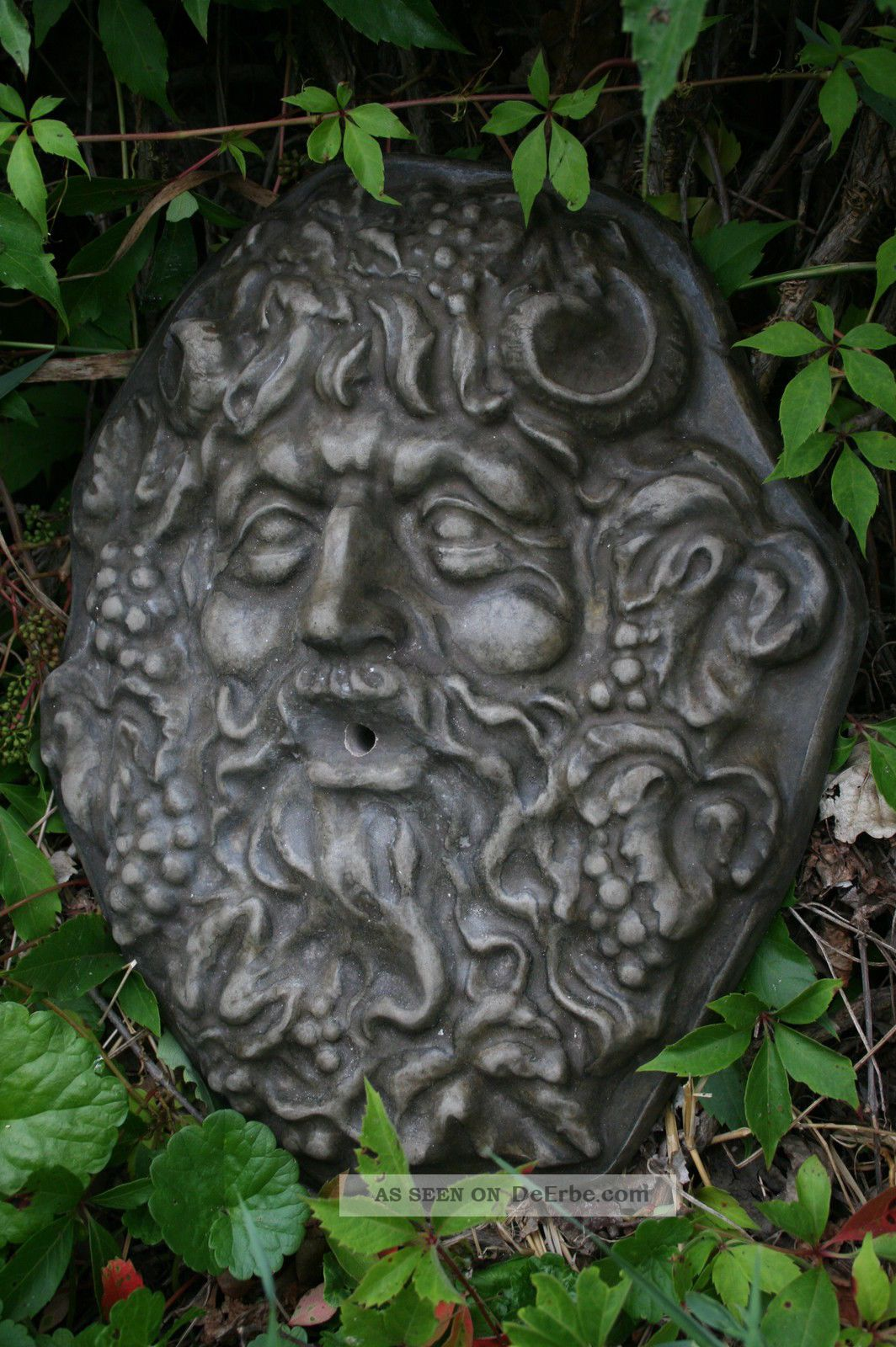 Laterne Metall Wand - Relief, Wasserspeier, Bacchus, Faun, Satyr