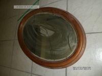 Alte Oval Wandspiegel Spiegel Holz Rahmen