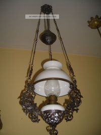 Alte Petroleumlampe Deckenlampe Hngelampe Um 1900