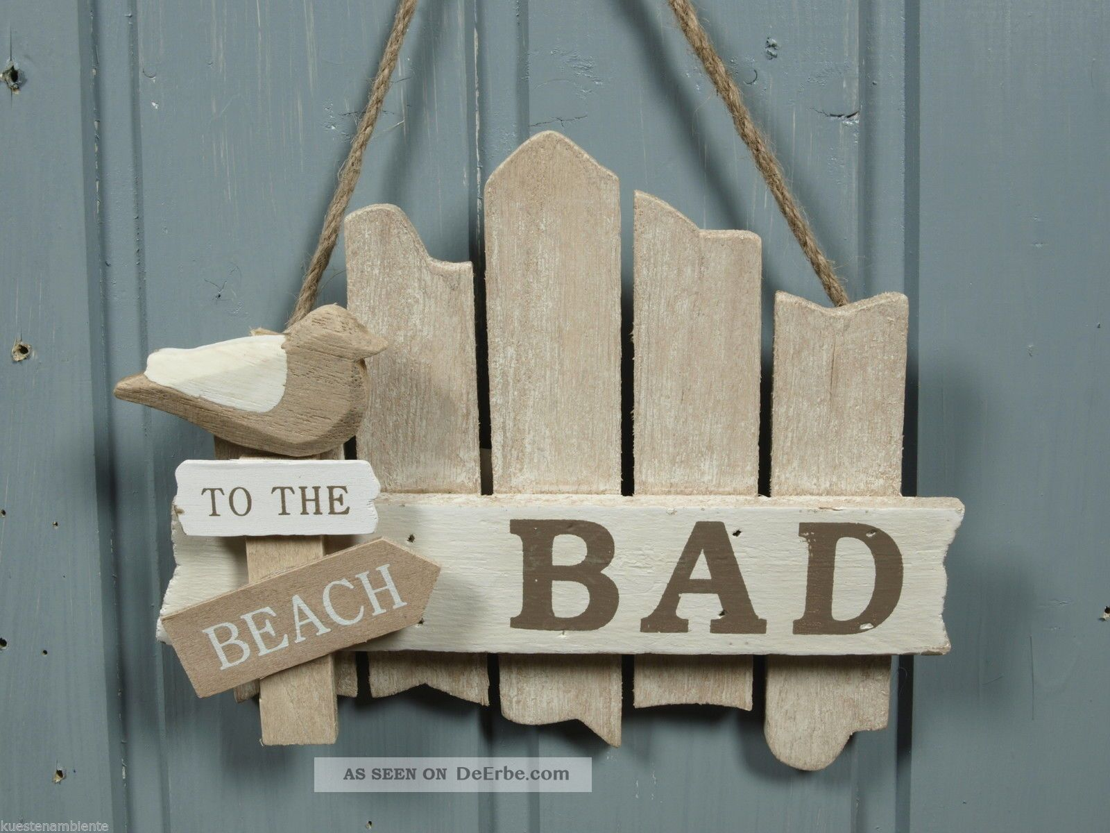 Bad Deko Bilder Tür Schild Quot Bad Quot Aus Holz Quot To The Beach Quot Ca 17x14cm