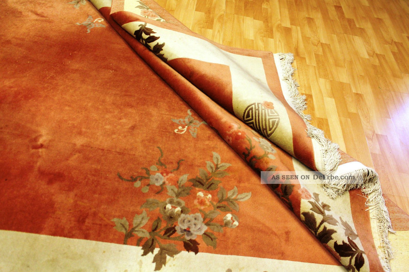 Art Deco Teppiche Aubusson Art Deco China Teppich Seiden Glanz 350x250cm