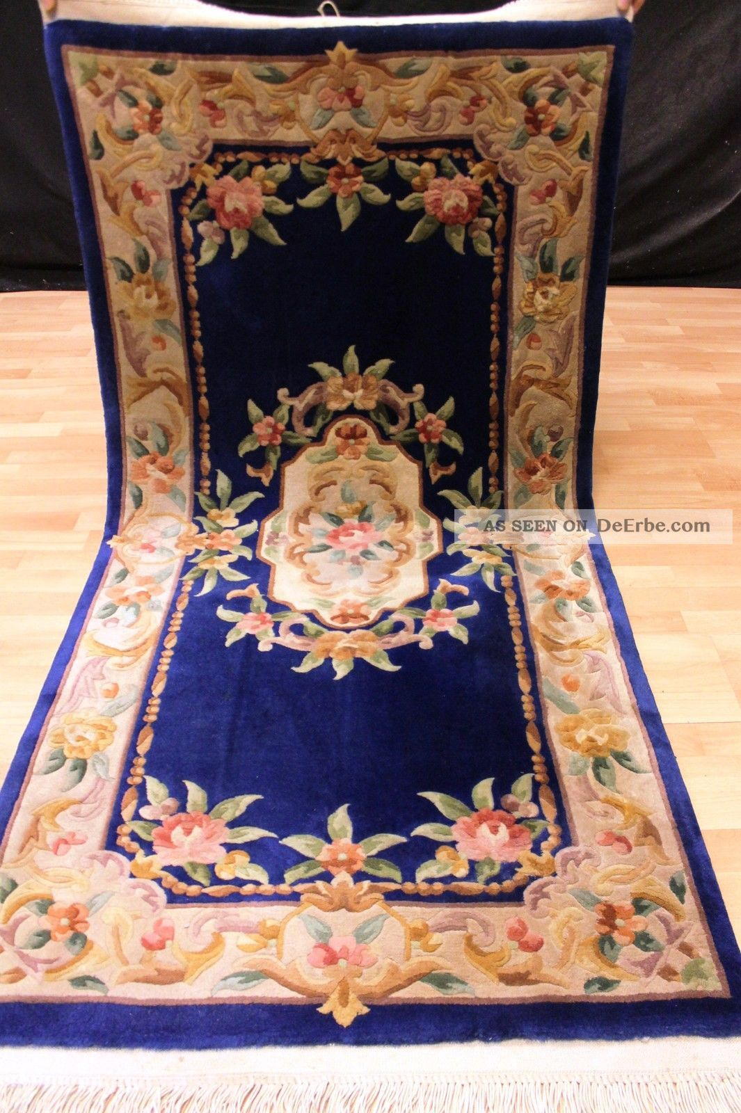 Art Deco Teppiche Aubusson Art Deco China Teppich Seiden Glanz 195x93cm 3449