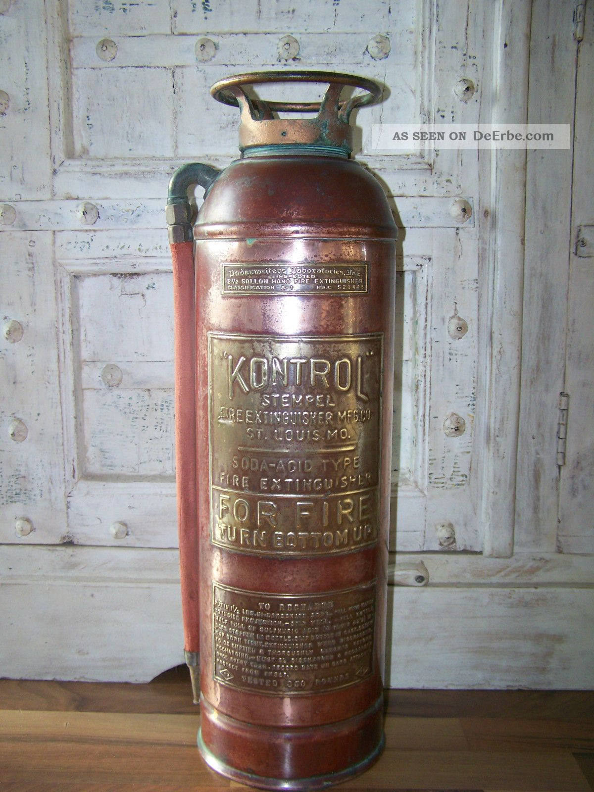 Kommode Höhe 50 Cm FeuerlÖscher Usa 40er/50er Copper/brass Extinguisher