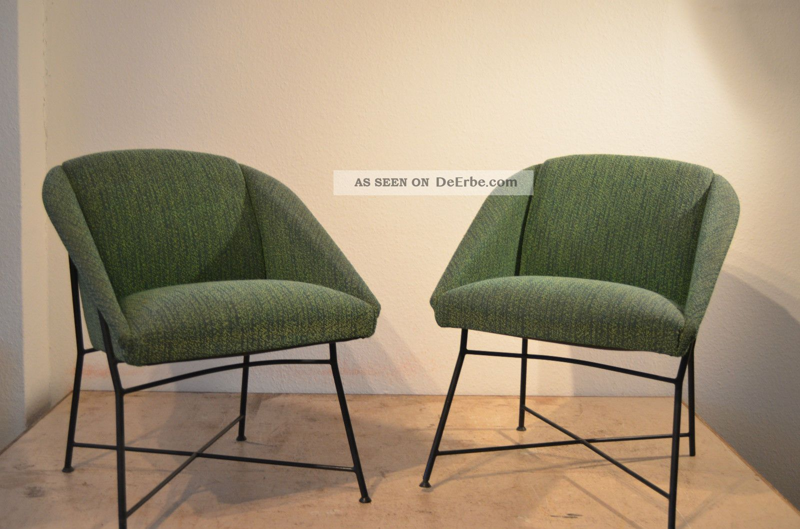 Sessel 50er Design Augusto Bozzi Lounge Chairs Sessel 50er Saporiti Design Knoll