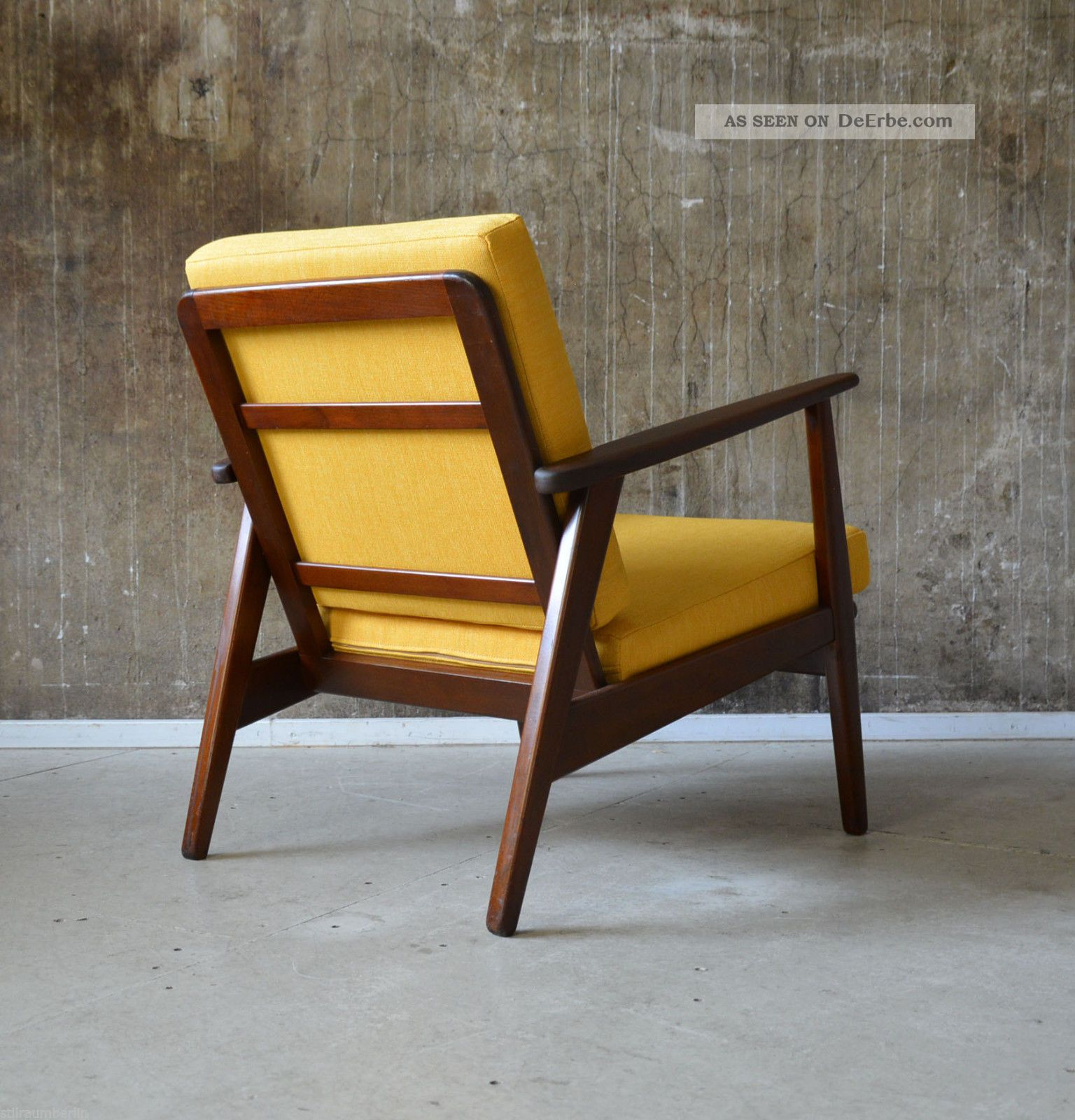 Design Sessel Retro Look 60er Teak Sessel Danish Design 60s Easy Chair Vintage