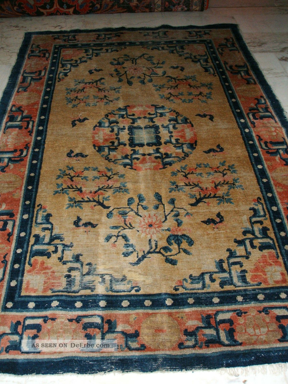 Teppich Perser Antique Chinese / Tibetan Rug Antiker Chinoise Tibet ...