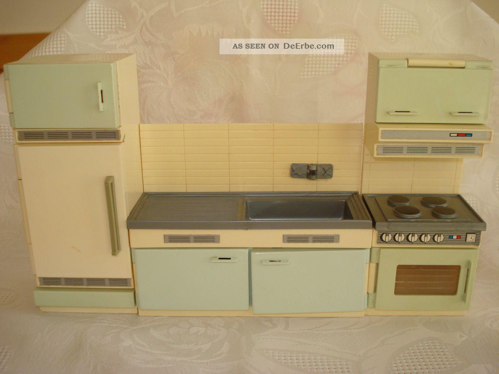 Puppenhaus Küche 60er 70er Jahre Kühlschrank Spüle